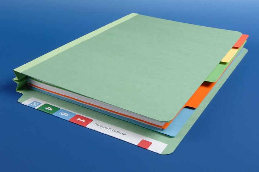 Orga-Class, dossiermap 5cm, verdeeld met tabbladen