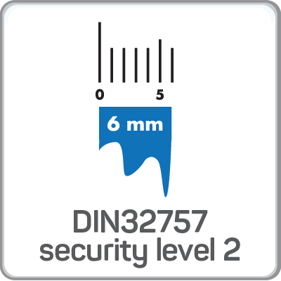 DIN32757 Security Level 2