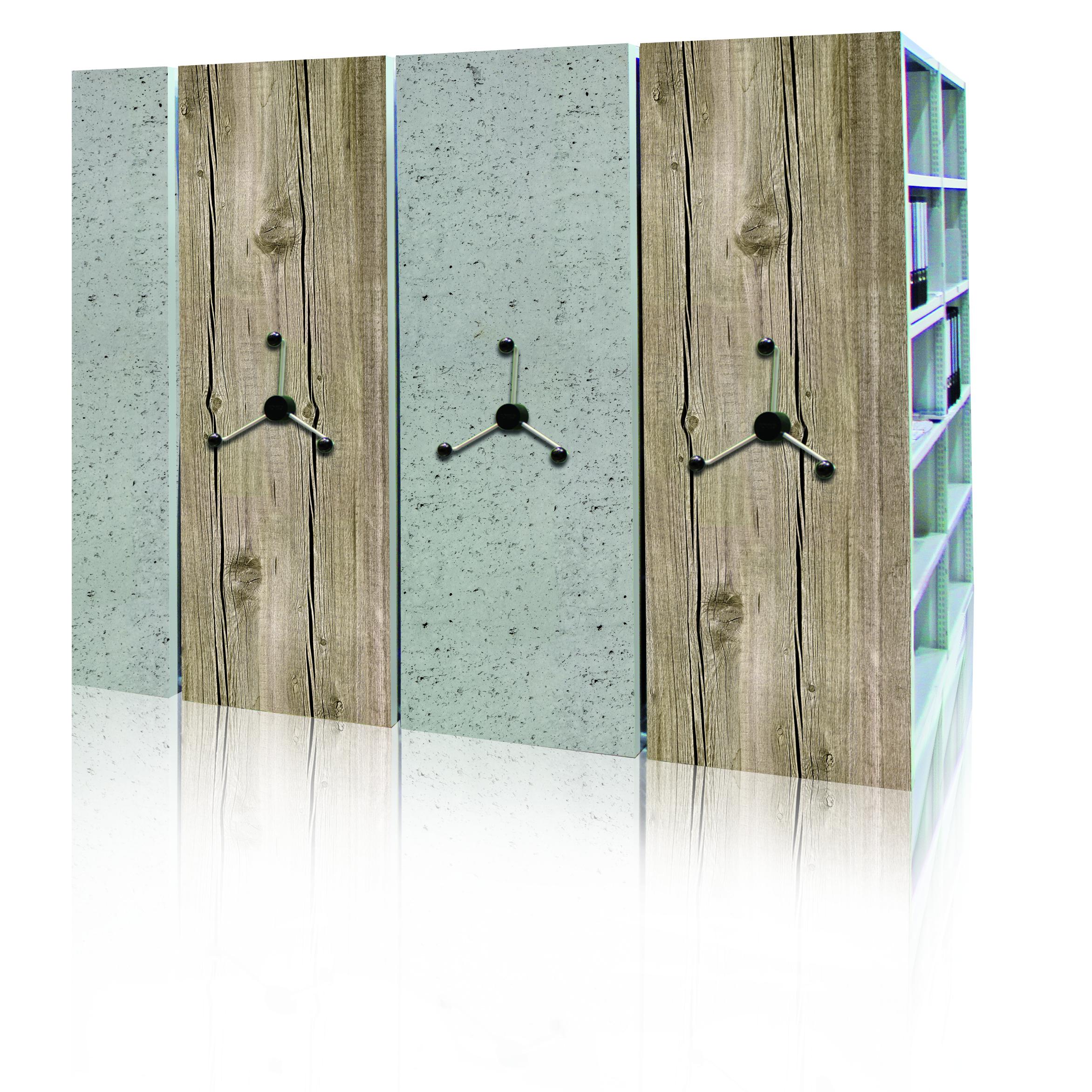 Forster rayonnages d'archives sur faux-plancher avec panneau de finition décor spécial