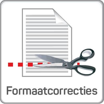 Formaatcorrecties