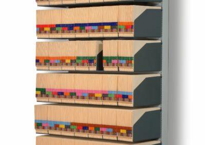 Orga-Rack archiefrek met legborden boven en onderaan