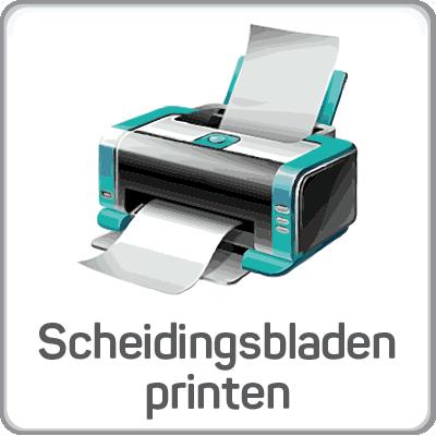 Scheidingsbladen printen