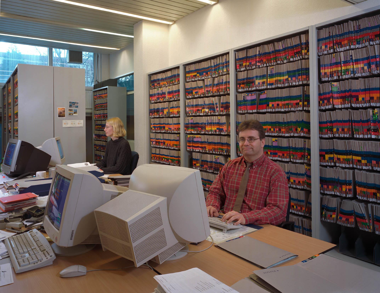 Ariës dossiers in Orga-Rack archiefrek met bekleding