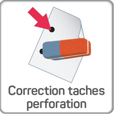 correction taches perforation